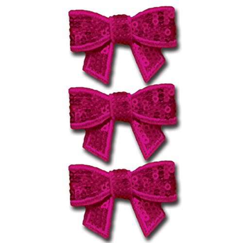 Maya Road Sparkle Sequins Bow Embellishment - Party Pink