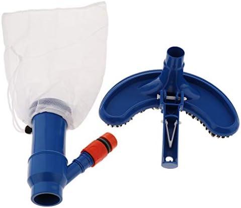perfk Schwimmbad Vakuumsauger Poolsauger Kopf Poolstaubsauger, Aufnahme für Teleskopstange & Selbst Stehend