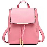 Glory Fashion Stylish Girls School / College Pu Casual Backpack - Pink