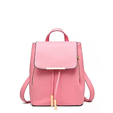 Buy Glory Fashion Stylish Girls School   College Pu Casual Backpack - Pink  Online at Low Prices in India - Amazon.in bd25ffaa703d2