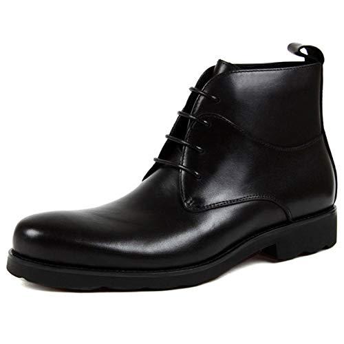 Stivali Pelle Business Inghilterra Casual alla da Scarpe Vera Stivali Lacci Uomo Martin in Stivali Alte Black Caviglia con zqpxZ