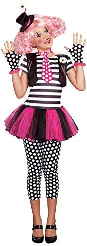 [SugarSugar Girls Clownin' Around Costume, One Color, Medium, One Color, Medium] (Clownin Around Girls Costumes)