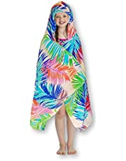 Simple Sarongs Kids Hooded Beach Towel Swimsuit Cover-up Wrap with Buttons
