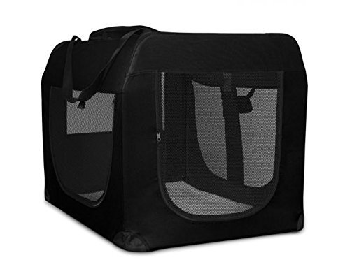 Weave Pet Carrier - Foldable Soft Sided Pet Crate Training Kennel Carrier for Cats and Dogs - 28x20.5x20