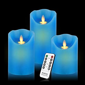 Amazon Com Multi Color Led Pillar Candles With Timer