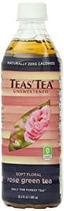 Teas' Tea Unsweetened Rose Green Tea, 16.9 Ounce (Pack of 12)