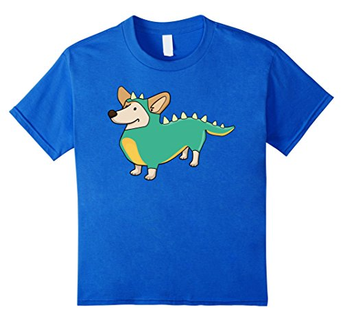 Kids Dog Dinosaur Costume Funny Halloween T-Shirt 12 Royal (Unique Homemade Halloween Costumes For Boys)