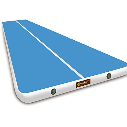 AIR FORCE ECO Gymnastics Air Track Mat, Thickness 7.87inch x Width 6.56ft, Blue ()