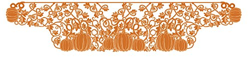 Autumn Halloween Pumpkin Vine Mantle Runner by Heritage Lace, 20x96 Inch, Fall