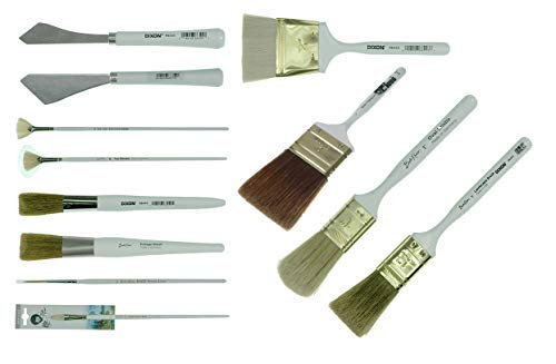 - Bob Ross - Landscape Brush Set, Oil Based Painting Tools, 12 pieces