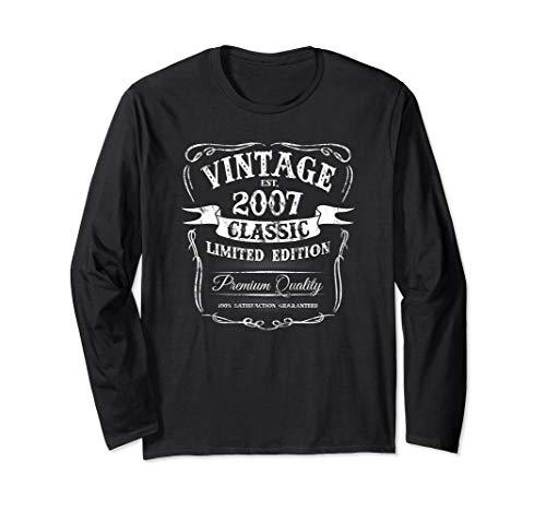 Vintage Est 2007 Classic 12th Birthday Special Edition Logo Long Sleeve T-Shirt 2007 Classic Logo T-shirt