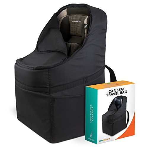 Car Seat Travel Bag - Heavy Duty Padding - With Chest And Waist Straps - Airplane TSA Compliant Luggage Carrier and Car Seat Protector For Baby, Infant, or Toddler's Front or Rear Facing Car Seats