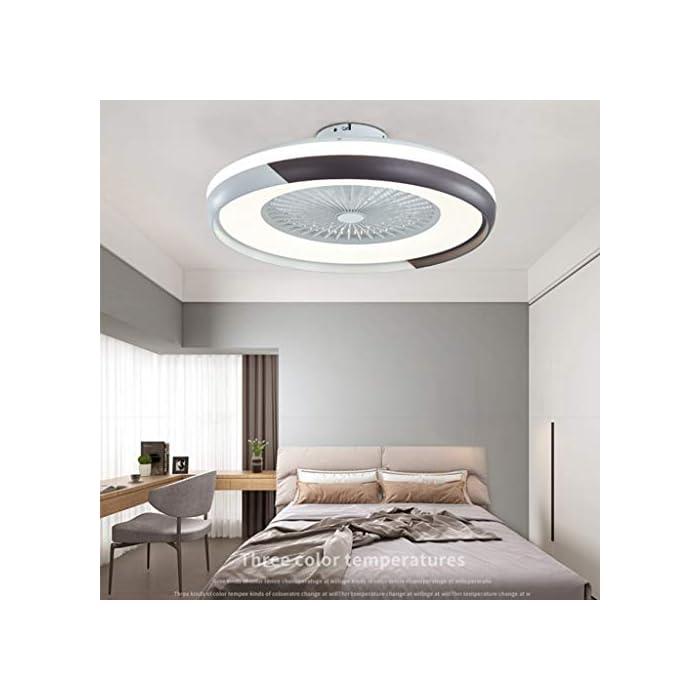 41yt9RmGKvL ✔ El ventilador es muy silencioso ✔ Para el ventilador utilizado en el dormitorio, puede configurar tres velocidades de viento diferentes utilizando el control remoto inteligente. La luz del ventilador tiene un deflector ajustable. Puede usar el control remoto incluido para controlar. Se puede instalar en un techo inclinado. Muy solido y confiable ✔ Material ✔ Pantalla de acrílico transparente alta, temperatura dura y alta, carcasa de pintura mate, aspas de ventilador ABS duraderas y transparentes, todos los motores de cobre, permiten que la lámpara del ventilador funcione de manera suave y silenciosa, 40 W, diámetro 50 cm, Peso neto: 4,6 KG ✔ Fuente de luz LED de alta calidad ✔ Nueva fuente de luz de lente LED, luz suave, sin deslumbramiento, sin interferencia de alta frecuencia, sin observación estroboscópica, por lo que puede proteger los ojos y el cerebro, ahorrar energía en más del 80%, brillo suficiente, baja potencia