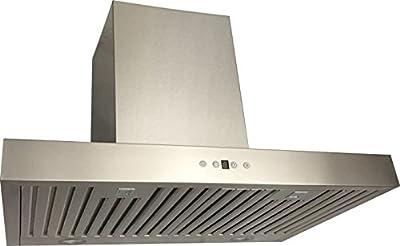 Cycene 30 Inch Wall-Mounted Stainless Steel Range Hood w/ Baffle Filter @ 600CFM - CY-RH198Z-30E