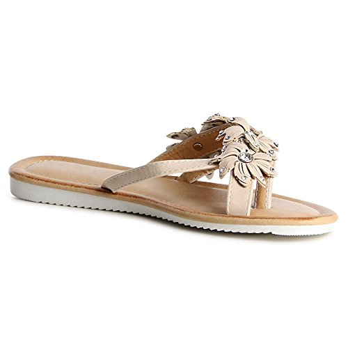 topschuhe24 - Sandalias de vestir para mujer Beige