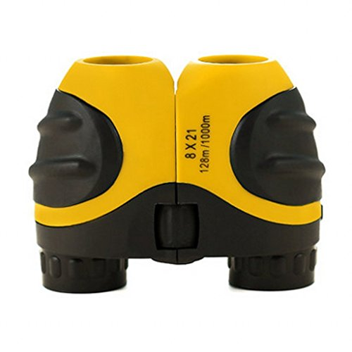 Yellow Kids Binoculars 8 X 21 for Bird Watching, Watching Wildlife or Scenery, Game, Mini Compact and Image Stabilized, Best Gifts for Children