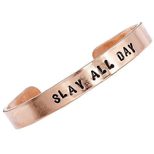 Copper Bracelet, Chic Gift Box, Production for Any Size, Personalized Jewelry, Mantra Bracelets, Cuff, Worldwide Free Shipment, 2 Days Delivery, Statement Piece, Slay All Day, Customize It