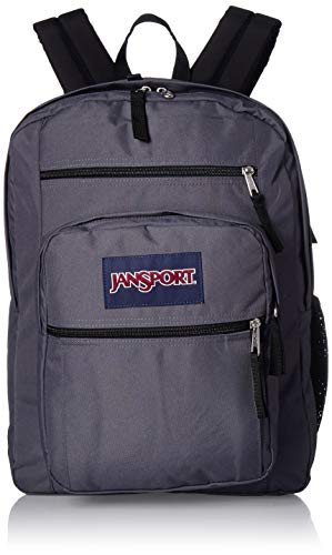 JanSport Big Student Backpack - 15-inch Laptop School Pack, Deep Grey