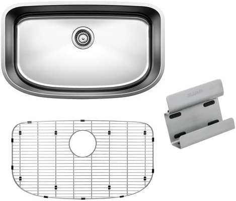 BLANCO 441634 ONE Undermount Stainless Steel Kitchen Sink with Grid and Caddy