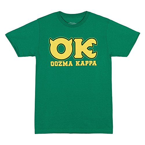(Disney Monsters University OK Oozma Kappa Member Adult Green T-shirt (Adult)