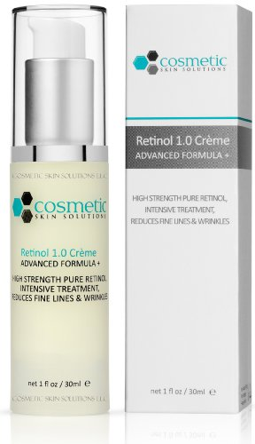Best Retinol 1.0% Advanced Formula + 1 oz / 30 ml - 1% Retinol (Vitamin A), 1% Vitamin E. High strength, softens wrinkles & lines.