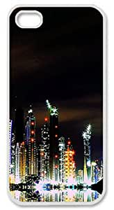 Dubai Skyline Iphone 5/5s Case with White Skin Edges PC Hard Shell by Shariecover