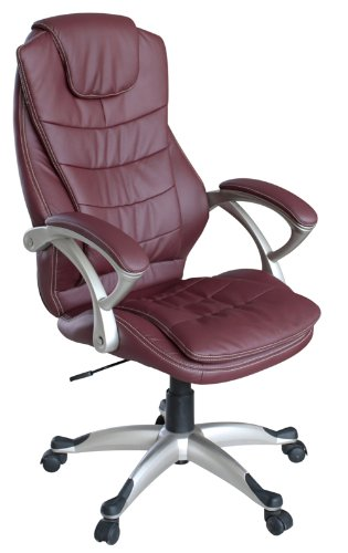 My Sit Sedia Da Ufficio Poltrona Girevole Direzionale Presitenziale Regolabile In Altezza Pelle Sintetica Nuovo Chicago Deluxe In Borgogna Con