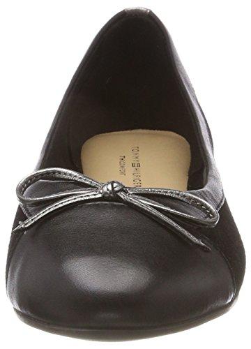 Flats Ballerina Ballet Basic Women's Hilfiger Black 990 Suede Black Tommy RqYTIn