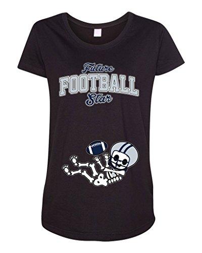 Future Football Star Dallas Baby Skeleton Maternity DT T-Shirt Tee (Large 9ed8b59f8