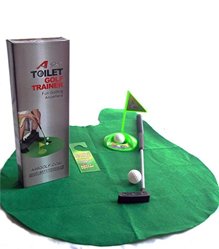 2sets of A99 Golf Toilet Bathroom Mini Golf Mat Set Game Potty Putter by A99 Golf (Image #3)