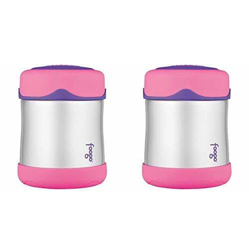 Thermos Foogo Leak-Proof Stainless Steel Food Jar, 10 Ounce - 2 Pack (Pink) ()
