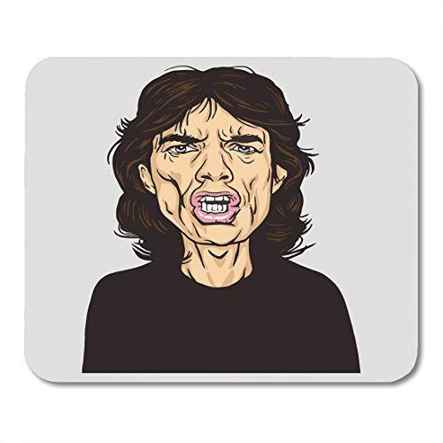 Emvency Mouse Pads Rock Mick Jagger Portrait Caricature January 14 Star Band British 1964 Mousepad 9.5