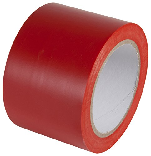 INCOM Manufacturing: Aisle Marking Conformable Tape, 3 x 180, Safety Red