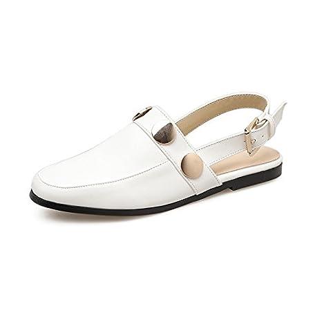 GTVERNH retro ' baotou pantofole donne piatte pantaloni scarpe da donna la gente pigra pantofole metallo buckle summer moda.…