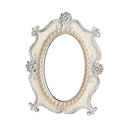 Personal Makeup Mirrors 7-Inch Tabletop Vanity Makeup Mirror Decorative Framed European For - Bathroom Framed Of Pearl Mirrors Mother