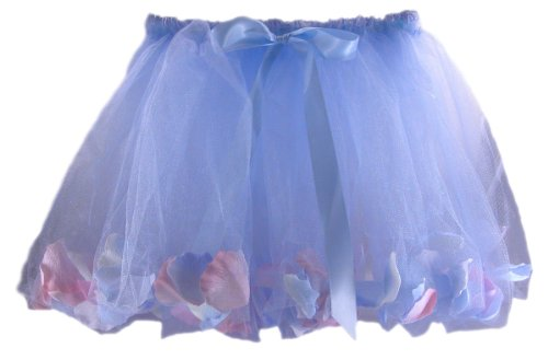 Flower Petal Fairy Tulle Skirt in a Variety of Colors, Made in USA, 2T-6X