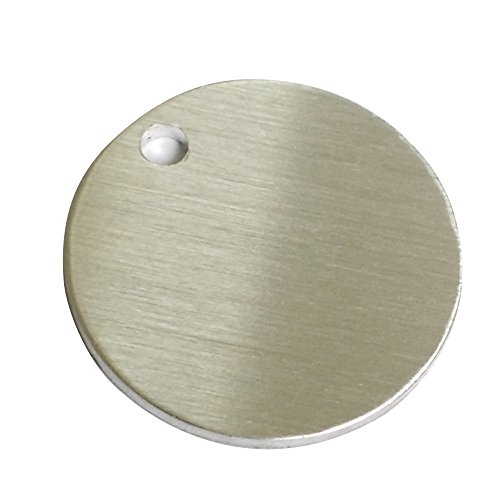 GazeKu blank stamping tags, W/Hole, Aluminum .063 Inch (14 Ga.) (1 Inch Round) Round Stamping Blanks