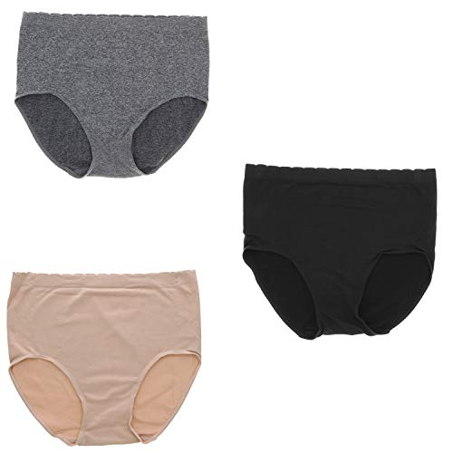 16041bbca066 Delta Burke Intimates Women's Plus Size Microfiber Hi-Rise Brief Panties  (3Pr) (