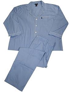 Izod - Mens Big and Tall Long Sleeve Broadcloth Plaid Pajama