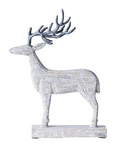 - Creative Co-Op Mango Wood & Metal Reindeer