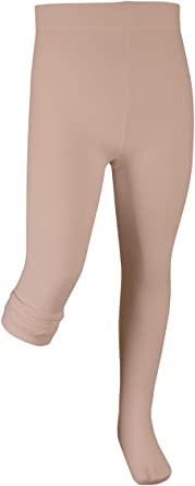Capezio Girls Big Footless Tight W Self Knit Waist Band