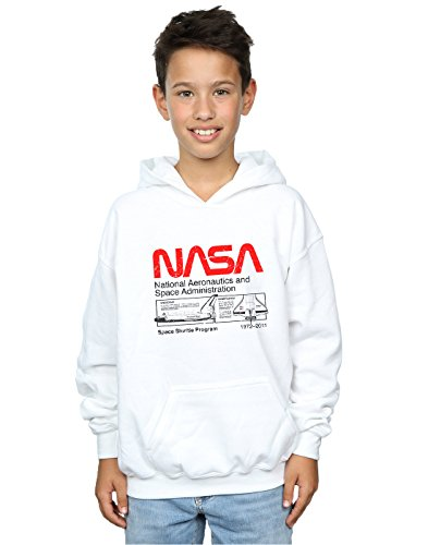 Shuttle Blanco Absolute Boy Nasa Cult Hoodie Space Classic 0xzFXOwgqz