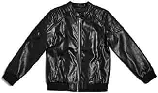 GUESS Big Boys' Faux-Leather Bomber Jacket
