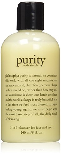 1 Face Wash - Philosophy Purity Made Simple 3 in 1 Cleanser for Face & Eyes, 8 oz.