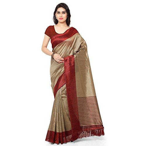 Rajnandini-Womens-Tussar-Silk-Stripes-Printed-SareeJOPLNB3011CBeigeMaroonFree-Size