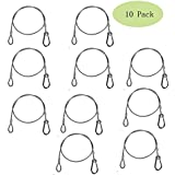 """TSSS® 10 Pack 25.5"""" Stainless Steel Safety Security Cable For Stage Lighting Par Light Moving Head Light"""