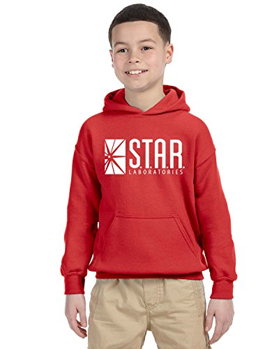 Star Lab Unisex Youth Pullover Hoodie Sweat Shirt Large Red ()