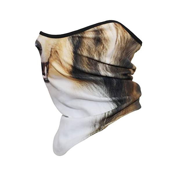 AXBXCX 3D Animal Neck Gaiter Warmer Windproof Face Mask Scarf for Ski Halloween Costume 3