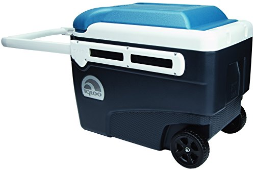 Igloo MaxCold Glide Roller Cooler, Jet Carbon/Ice Blue/White, 40 quart Only $32.00 (Was $72.99)