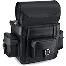 Nomad USA Revival Series Large Plain Leather Motorcycle Sissy Bar Bag